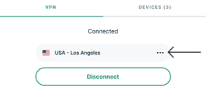 Setting VPN Location